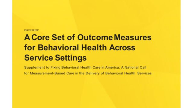 Core Set of Outcome Measures