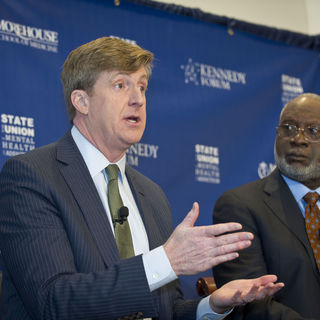 Patrick Kennedy and Dr. David Satcher speak at the State of the Union in Mental Health and Addiction.